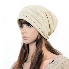 Women Knitted Woolen Stripe Beanie Cap Casual Foldable Warm Head Hat is hot  sale on Newchic Mobile. 83bf9fbeb787