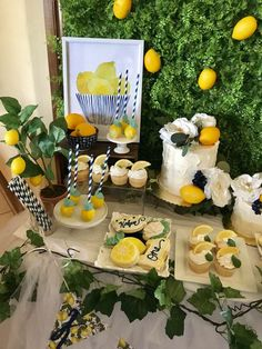 This Daddy's Main Squeeze theme turned out adorable for sweet Kohen's Birthday 🍋🌿💙 Thanks for going with my ideas 💛 . Birthday Thanks, Baby Birthday, Birthday Parties, Kids Birthday Themes, Festa Party, Diy Party, Party Ideas, Lemon Party, Bridal Shower Decorations