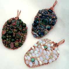 Dragonskin Pendant wire wrapped bead weaving project #diy #jewelry