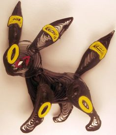 Paper Quilling Umbreon - 197 by wholedwarf on deviantART