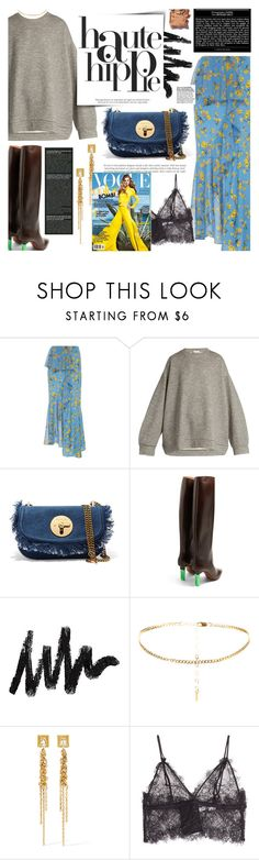"""Haute Hippie"" by chocohearts08 ❤ liked on Polyvore featuring Goen.J, Raey, See by Chloé, Vetements, Christian Dior, BROOKE GREGSON, Anine Bing and Illamasqua"