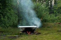 Wood fired bath tub will definitely be happening at Wildwood Mountain.