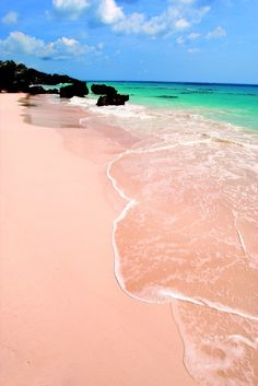 Uniqua travels to Pink Sand Beach in the Surfs Up Backyardigans episode- who knew it was a real place! Pink sand beach, Bermuda Bermuda travel tips traveling to bermuda Pink Sand Beach Bermuda, Pink Beach, Elbow Beach Bermuda, Beach Bum, Places Around The World, The Places Youll Go, Places To See, Dream Vacations, Vacation Spots