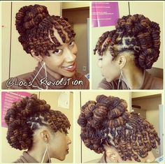 Barrel roll updo Locs Style  https://www.youtube.com/watch?v=3jeSi6IToCo&list=UU4FW7HIvDUoWS1lXChV-tZQ