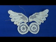 Irish Crochet Lace, Butterfly from Priscilla no 2, part 5 lower wing - YouTube