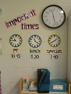 This is such a simple but powerful addition to your wall.  Incorporating math and time into as many realistic opportunities as possible.