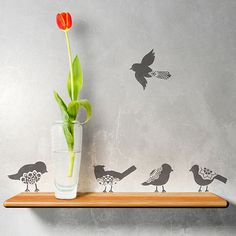 Lace Birds Stencil Set | Royal Design Studio