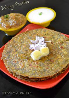 Tasty Appetite: Moong Dal Paratha / Healthy breakfast menu