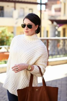 Lovely Oversized Sweater...this cream color is delightful!