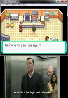 What a terrible thing to say in a hospital fun via Reddit user Ryanelias42 #Pokemon