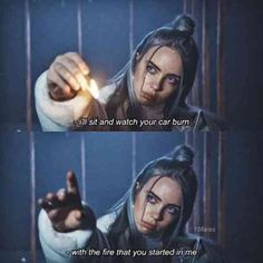 Billie Eilish may have just turned but her super-relatable song lyrics about love and heartbreak speak to all ages. We've gathered some of our picks of the best Billie Eilish quotes and heartbreaking lyrics that will hit you right in the feels. Film Quotes, Song Quotes, Song Lyrics, Quotes From Movies, Sad Movie Quotes, Indie Quotes, Music Quotes, Billie Eilish, Cover Art