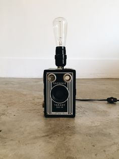 Antique Brownie Camera Lamp With Flash Bulb by thesteelbeam