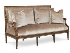 Shop for Chaddock Atlier Sofa, Z-1321-3, and other Living Room Sofas at Chaddock in Morganton, NC. Available in any finish.  Standard with two 22'' throw pillows and two kidney pillows and nailhead trim. Customization is possible.