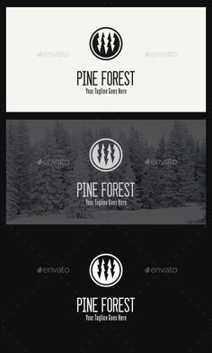 Pine Forest Logo Template - Nature Logo Templates