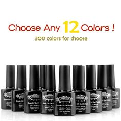 Perfect Summer Pick ANY 12 Colors! UV/LED Colors Gel Polish Soak Off Nail Lacquers Mood Changing French Manicure Nail Art Kit( Pick Any 12 Colors and Email US!) *** Read more at the image link.