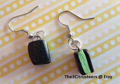Handmade Mint Ice Cream Sandwich Dangle by The3Citrusteers on Etsy
