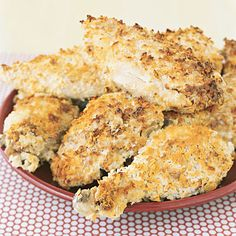 Crunchy Chicken: Brush the meat with ranch dressing then dredge in potato flakes for a juicy, tender dish that packs a light crunch.