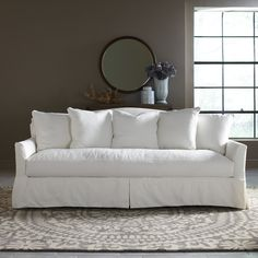 "Farley 90"" Sofa.  38'' H x 90'' W x 43'' D. Made in the USA. $875.95."