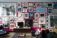 A Little Life (Habitually Chic) Inspiration Wall, Interior Design Inspiration, Design Ideas, Gallery Wall Frames, Gallery Walls, Soho Apartment, A Little Life, Thing 1, City Living