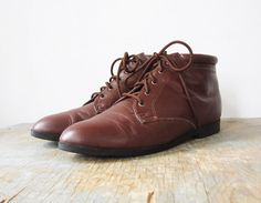 vintage brown ankle boots