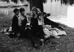 Do you recognise these youngsters having a picnic by the river?