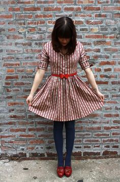 Dress!! + shoes + tights. Colors.