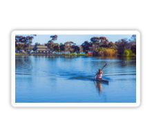Solitary Springtime Rowing on Lake Weeroona Sticker