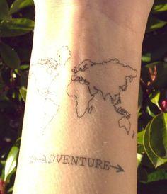 Simple map tattoo