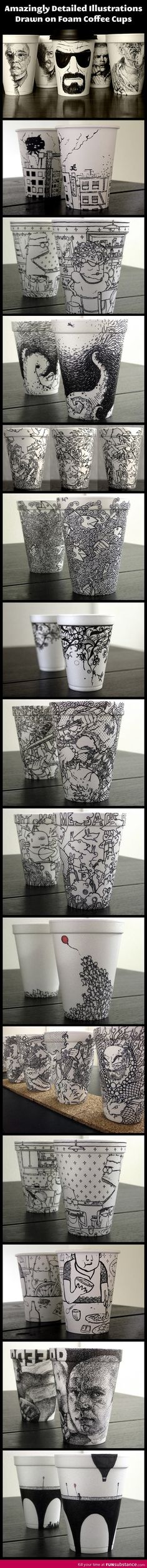 Awesome coffee cup designs