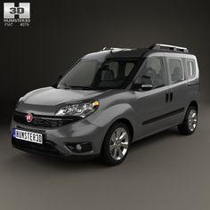 Fiat Doblo Passenger L1H1 2015 3d model from humster3d.com