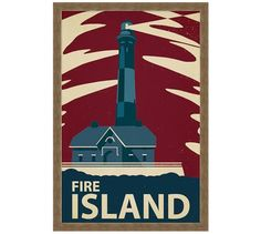 Graphic Lighthouse Framed Prints | Pottery Barn