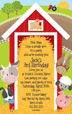 Barn invitation- too cute!
