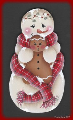 The Decorative Painting Store: Frosty Friends Ornament Blank, Surfaces for Pamela House Patterns Gingerbread Crafts, Snowman Crafts, Christmas Gingerbread, Christmas Snowman, Christmas Projects, Holiday Crafts, Christmas Ornaments, Pintura Country, Frosty The Snowmen