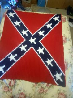 Crochet Patterns Rebel Flag : ... Flag Afghan Crochet Pattern Graph Confederate Flag, Afghan Crochet