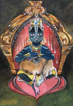 Gopala. #Watercolour on canvas #Krishnafortoday