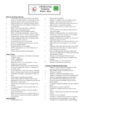 4-H Quick Tips Community Service Ideas