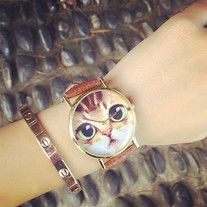http://dejavucat.storenvy.com/products/19853189-cat-face-watch  #cat #watch #women #cute #kawaii #gift #quartz #analog #accessory #cute #wrist #jewellry #catloversgift #catlover