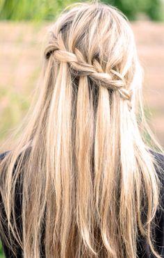 Straight hair w/ braid