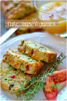 cake aux légumes ( poivrons champignons tomates séchées )