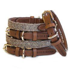 Herringbone Tweed Dog Collar