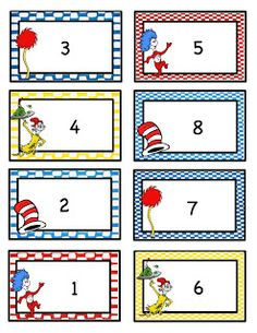 Preschool Printables: Seuss