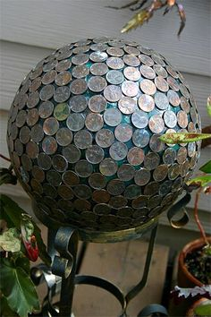 clever sculpture idea,  Good use for the pennies I've been saving since 1986!