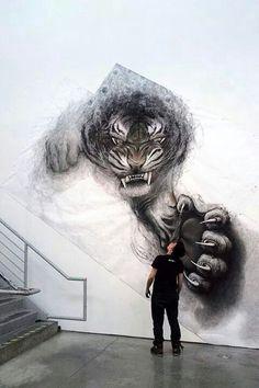 Image via We Heart It https://weheartit.com/entry/157637598/via/2244855 #installation #kunst #zeichnung #tang #wandmalerei