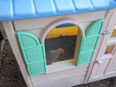 Turn an old playhouse into a chicken coop!