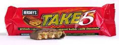 nuff said. Take 5 Candy Bar, Best Candy Bar, Candy Bars, Take 5 Bars, Candy Packaging, Candy Companies, Food Obsession, Favorite Candy, Fun Desserts