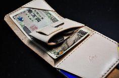 ヌメ革 極小財布