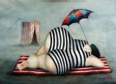 LMNO, damn those look like my Nalgas! Plus Size Art, Fat Art, Art Abstrait, Fat Women, Whimsical Art, Beach Art, Rock Art, Female Art, Art Girl