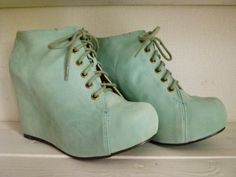 mint colored wedges!! <3