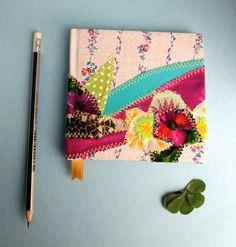 FLOWER Journal, nature sketchbook, flower journal, customized journal, Fabric Journal, girlfriend gifts, journals for her, notebooks