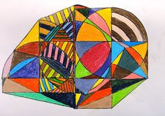 For the Love of Art: Grade: Frank Stella Protractor Series Middle School Art Projects, Frank Stella, 5th Grade Art, Math Art, Art Classroom, Classroom Ideas, Elements Of Art, Art Lesson Plans, Art Club